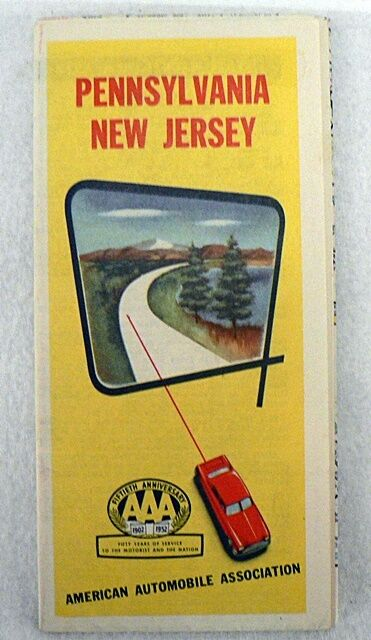 AAA PENNSYLVANIA & NEW JERSEY OFFICIAL ROAD MAP