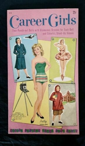 1960 GOLDEN FUNTIME PUNCHOUT ACTIVITY BOOK CAREER GIRLS ORIGINAL UNPUNCHED