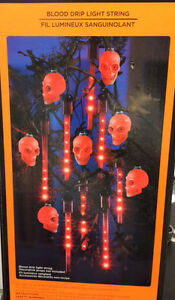 BLOOD DRIP LED LIGHT STRING INDOOR OUTDOOR HALLOWEEN DECORATION