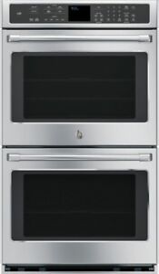 """GE PROFILE 30"""" STAINLESS STEEL BUILT-IN DOUBLE CONVECTION WALL O"""