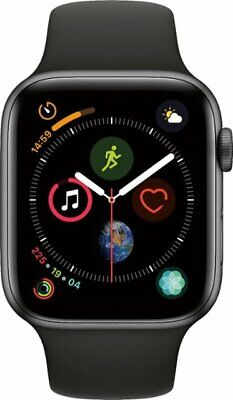 Apple Watch Series 4 44 mm Space Gray Aluminum Case with Black Sport (Space Gray Aluminum Case With Black Sport Band)