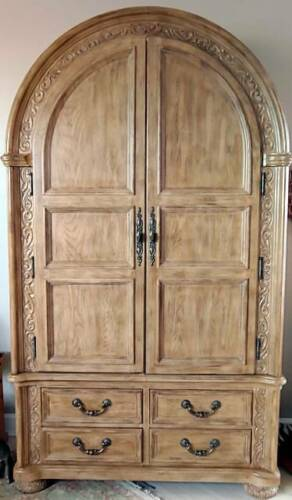 BERNHARDT FURNITURE CORONADO LIGHT OAK 2-PIECE ARMOIRE