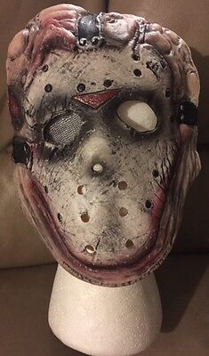 Jason Friday The 13th Vinyl Licensed Costume Child Kids Mask Rubies Ages 4-8 - Kid Jason Costume