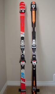 GS FIS Race skis Rossignol 170 cm, Dynastar 175 cm & 182 cm.