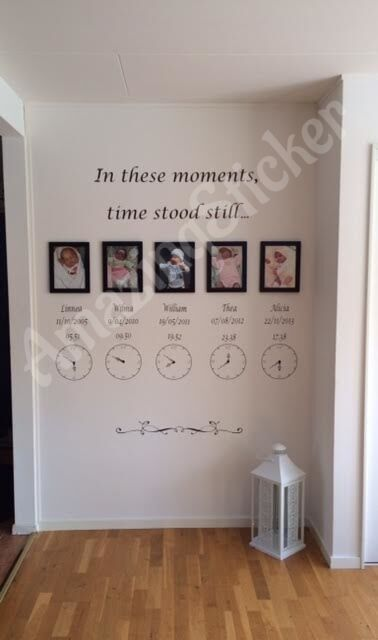 In These Moments Time Stood Still Wall Quote Stickers Wall Decal Words -clock stickers are customized adds up