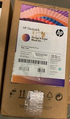 Hp Indigo 70007500 Ink Mix -q5391-01340 - Orange And Violet Mixed Kit
