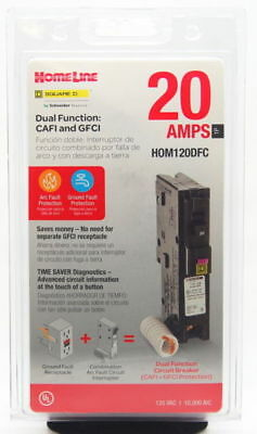 Square D Homeline Hom120dfc Dual Function 20a  New In Package