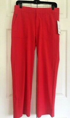 Athleta Tribeca UTILITY Crop Pant Hibiscus Red 4 / S Small