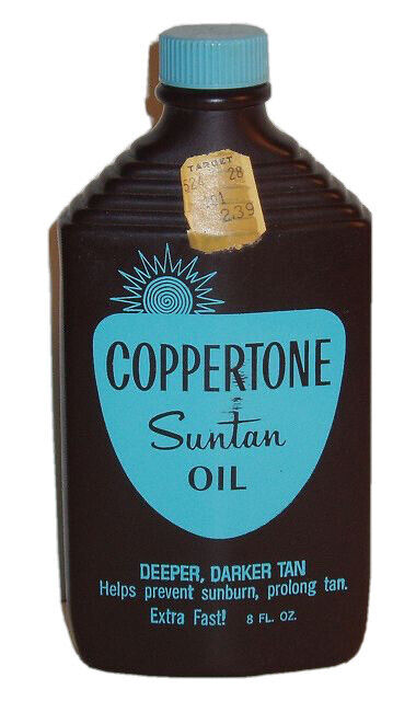 Vintage 1960s Coppertone Tanning Oil
