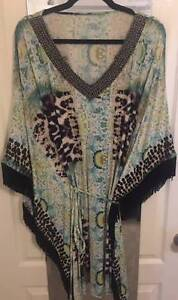Charlie Brown Kaftan Dress Size 16/18 New Condition Bundall Gold Coast City Preview
