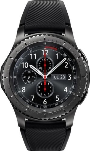 Samsung Gear S3 frontier Smartwatch 46mm Stainless Steel AT&T Black 6547A