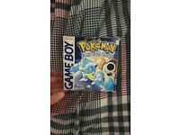 Pokemon Blue box and instructions