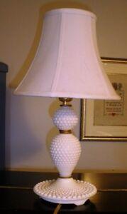 Hobnob Milk Glass Lamp