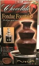Stainless Steel Chocolate Fondue Fountain- Brand New. Cost £40.