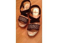 LOVELY LADIES WEDGE SANDALS BY LOTUS-SIZE 6