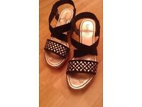 PAIR OF LADIES WEDGE SANDALS BY *LOTUS* SIZE 6