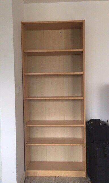 Ikea Bookcase Billy White Stained Oak Veneer