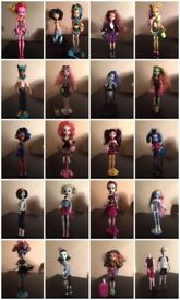 21 monster high dolls