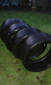2 Pirelli and 2 Kumho Tyres 235-35-ZR19