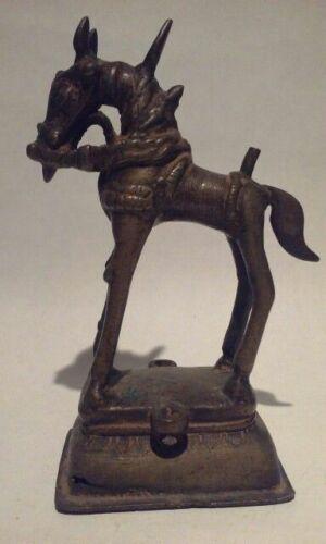 Antique Hindu Jain Bronze Figure of a Horse
