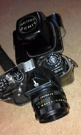 Vintage Zenit SLR Camera 1980 Moscow olympics edition. Helios-44m-4 2/58 Lens and leather case. Used