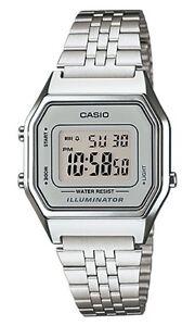 Casio-LA-680W-7-Orologio-Donna-polso-Vintage-Nuovo-Crono-Sveglia-Luce-Batt-5anni