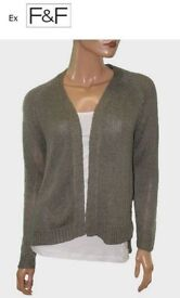 BRAND NEW stunning ex F&F shimmer OPEN FRONT cardigans. Sizes 8-22