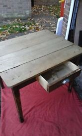 Beautiful soho solid wood dining table or desk with drawer