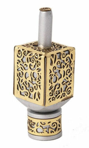 Hanukkah Dreidel with Stand - Pomegranate Chanukah - Made in Israel