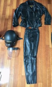 Vêtements de cuir pour Homme et femme et casques de moto