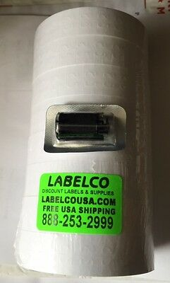 Monarch 1136 White Labels 64 Rolls 1 Case 112000 Labels Case Free Freight
