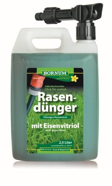 Flüssiger Rasendünger HO40117 Konzentrat 2,5 Liter Rasen Dünger Flüssigdünger