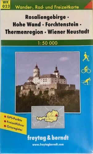 Hiking Map of  Thermal Region Baden, Forchtenstein, Rosaliengebirge, Austria, by