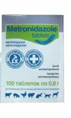 Metronidazole 200 Tablets Flagyl Antiprotozoal Antibiotic Dog Cat