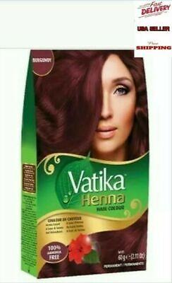Dabur Vatika Henna Powder Best Hair Color Burgundy + FREE (Best Hair Colour For Hair)