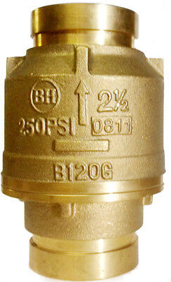 2-12 Brass Swing Fire Check Valve 250 Psi Bronze Body- Grooved End