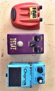 x3 Guitar Pedals (Vintage/Made in Japan) Frenchs Forest Warringah Area Preview