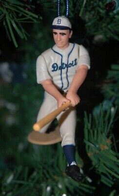 Detroit Tigers Uniform (Hank Greenberg Detroit Tigers Grey Uniform Baseball Christmas Tree Ornament)