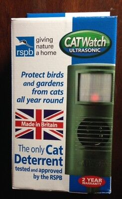 CAT WATCH DETERRENT REPELLER REPELLENT CATWATCH SCARER ULTRA SONIC PEST