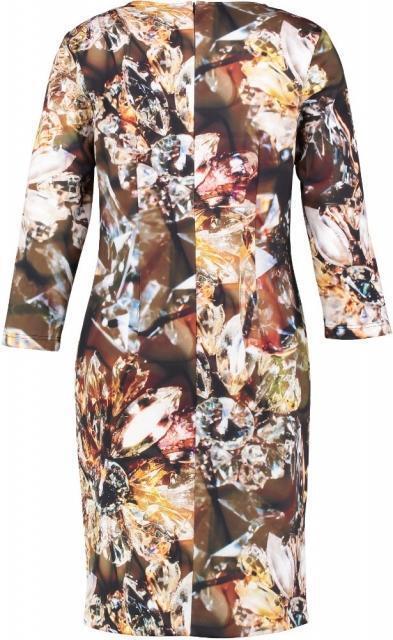 Giovane stevige gevoerde stretch jurk 3/4 mouw Maten: 36,46