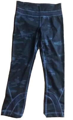 LULULEMON RUN INSPIRE CROP PANTS Heathered Texture Lotus Camo Oil Slick Blue  2