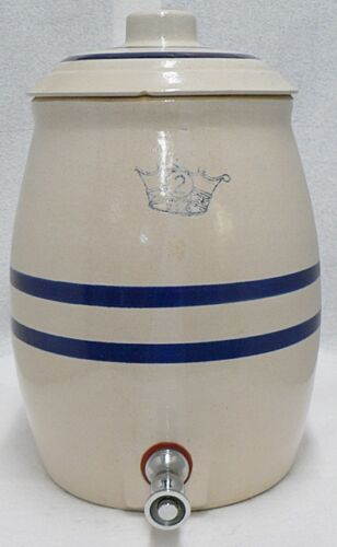 ROSEVILLE ROBINSON 2 GALLON CROCK WATER COOLER WITH LID