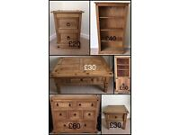 Pine furniture for sale ,see pictures for prices