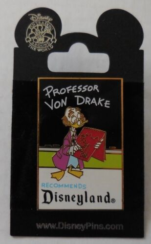 Disney Pin DLR Retro Postcard Professor Von Drake Pin New