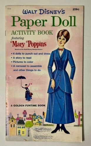 1964 GOLDEN FUNTIME PUNCHOUT BOOK MARY POPPINS ORIGINAL UNUSED