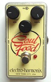 Electroharmonix Soul Food guitar distortion pedal for sale, mint condition, original box, manuals