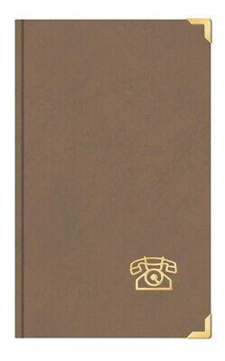 Telefonbuch Adressbuch ca DIN A5 mit Messingecken