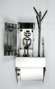 d vidoir mural papier toilette wc cabane hinz amp kunst en acier ebay. Black Bedroom Furniture Sets. Home Design Ideas
