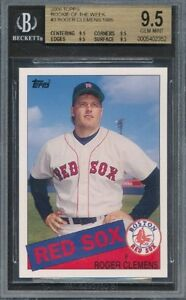 2006 1985 Topps ROW Roger Clemens Rookie BGS All 9.5