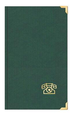 Telefonbuch Adressbuch ca. DIN A5 mit Messingecken grün